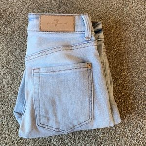 7 For All Mankind | Lux Vintage Light Wash High Waist Ankle Skinny Jeans